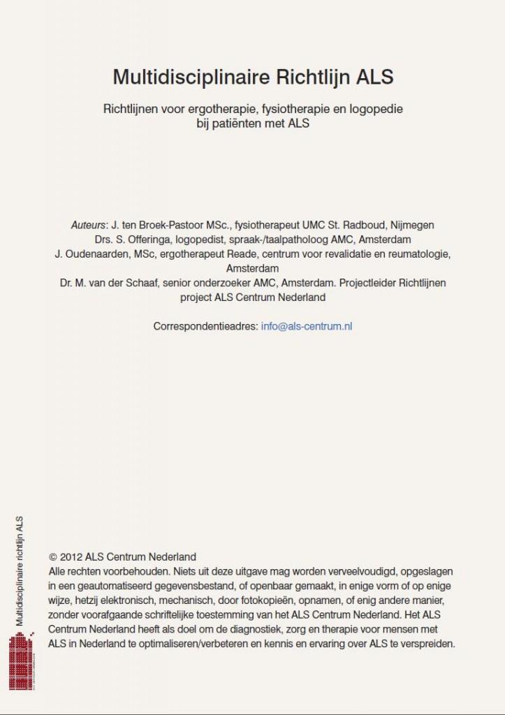 Multidisciplinaire Richtlijn ALS