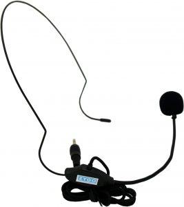 Hoofdmicrofoon bij de spraakversterker