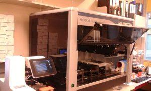 De nieuwe robot op het laboratorium van het ALS Centrum UMC Utrecht