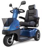 Voorbeeld van een scootmobiel met drie wielen.