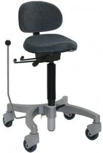 Voorbeeld van een stakruk/ stastoel